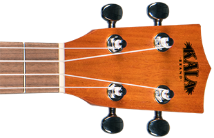 cropped detail image of Kala Exotic Mahogany Tenor Ukulele headstock