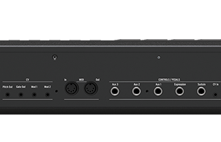 detail image of Arturia KeyLab MkII 88 MIDI/USB/CV Controller - Black back showing control and data connections