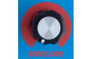 detail image of Dreadbox Kinematic control panel showing ENVELOPE knob