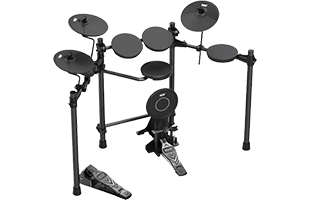three-quarters view of Kat Percussion KT-100 showing back, top and right side