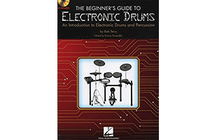 book cover artwork from The Beginners Guide to Electronic Drums by Bob Terry