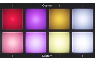 detail image of Novation Launchkey 49 MK3 top panel showing custom pads