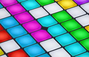 closeup view of RGB pads on Novation Launchpad Pro
