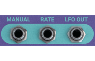 detail image of Dreadbox Lethargy control panel showing CV connections