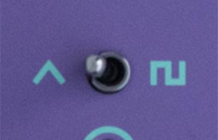 detail image of Dreadbox Lethargy control panel showing LFO shape selector switch