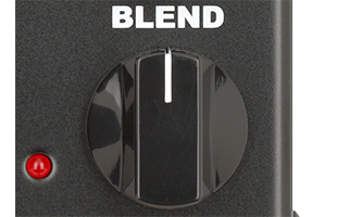 detail image of Neo Instruments Micro Vent 122 showing BLEND knob