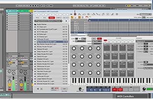 screenshot from Akai Professional MPC Essentials desktop computer music production controller companion software