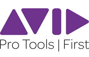 logo graphic for Avid Pro Tools First desktop computer music recording software