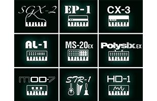 collage of nine icons for Korg Nautilus sound engines