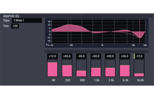 screen image from Korg Nautilus showing Stereo Graphic 7EQ effect interface