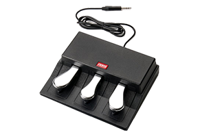 3/4 image of Nord Triple Pedal showing top, front and right side