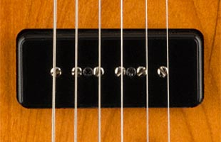 detail image of Fender Noventa Telecaster showing Noventa single-coil pickup