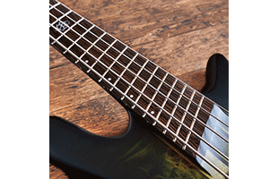 detail image of Spector NS Dimension 5 showing fretboard