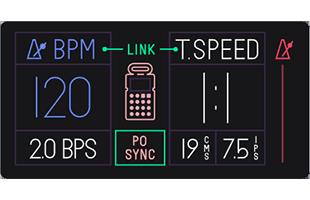 Teenage Engineering OP-1 screen showing Pocket Operator sync setup