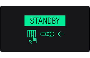 Teenage Engineering OP-1 screen showing sampler standby