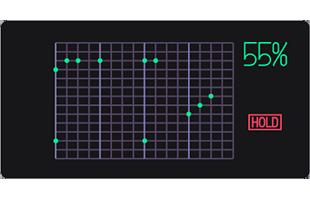 Teenage Engineering OP-1 screen showing sequencer pattern