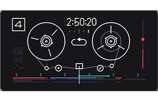 Teenage Engineering OP-1 screen showing 4-track tape