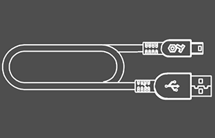 Illustration of USB cable included with Teenage Engineering OP-1