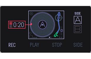 Teenage Engineering OP-1 screen showing album mode