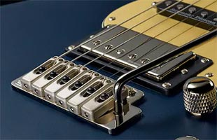 detail image of Yamaha Pacifica PAC600 series electric showing Wilkinson VS50 6 vibrato bridge