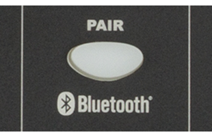 detail image of Fender Passport Event Series 2 panel showing Bluetooth pairig button