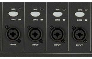 detail image of Fender Passport Series 2 showing combo inputs
