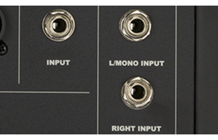 detail image of Fender Passport Event Series 2 showing line inputs