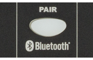 detail image of Fender Passport Venue Series 2 control panel showing Bluetooth pairing button