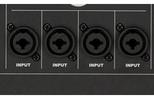 detail image of Fender Passport Venue Series 2 showing combo inputs
