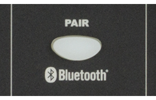 detail image of Fender Passport Conference Series 2 control panel showing Bluetooth pairing button
