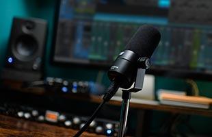 PreSonus PD-70 Broadcast Dynamic Microphone in recording studio setting