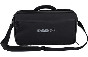 front view of Line 6 Pod Go Shoulder Bag with shoulder strap attached