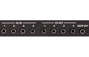 detail image of Sequential Pro 3 rear panel showing CV/gate inputs and outputs