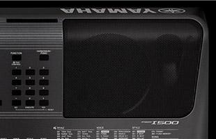 detail image of right-hand built-in speaker on Yamaha PSR-I500