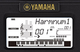 detail image of Yamaha PSR-I500 screen with Harmnum1 Style active