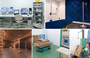 collage image of Yamaha manufacturing and testing facilities