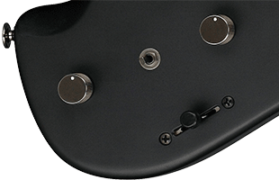 detail top view of Ibanez QX52 showing Dyna-Mix 10 pickup switching system controls including Alter mini switch