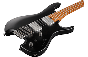 close-up perspective view of Ibanez QX52 showing top and right side of body and portion of fingerboard