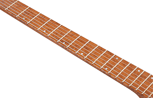 detail top view of Ibanez QX53 showing fingerboard
