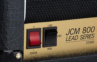 detail image of Marshall SC20H showing power and and standby switches