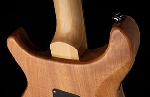 close-up view of PRS SE Custom 24-08 showing mahogany back