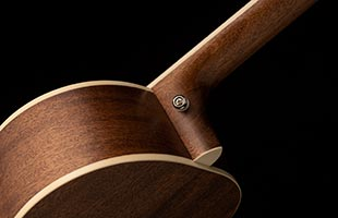 detail image of PRS SE P20 showing neck heel