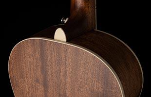 detail back image of PRS SE P20E showing neck heel