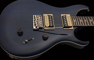 close-up view of PRS SE Standard 24 showing mahogany body