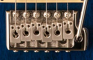 detail image of PRS SE Standard 24 showing molded tremolo bridge