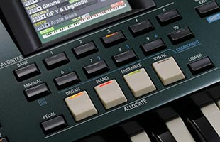 detail image of Hammond SK Pro showing Allocate and Favorites buttons