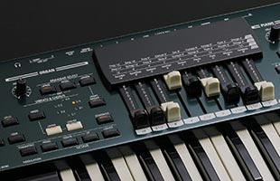 detail image of Hammond SK Pro control panel showing Organ section