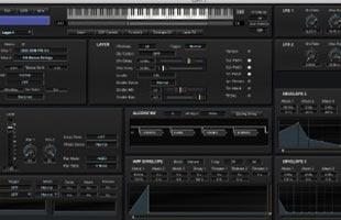 screenshot from Kurzweil SP6-7 software editor