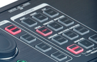 detail image of Kurzweil SP6-7 panel showing sound selection buttons