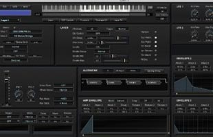 screenshot from Kurzweil SP6 software editor